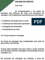 5. Forças e Potências de Corte
