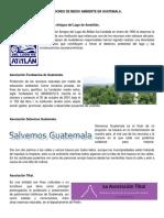 Instituciones de Medio Ambiente en Guatemala