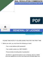 Step by Step PRC License Renewal