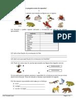 Animais - Revestimento Locomoção e Alimentação