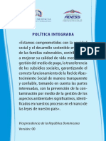 Política Integrada ADESS