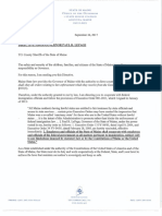 Governor's Letter to Sheriffs Regarding Federal Illegal Alien Detention Requests