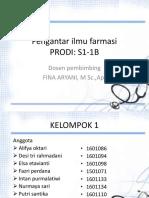 Kelompok 1 - 1B - Ppt - Obat
