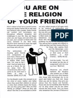 You Are on the Religion of Your Friend