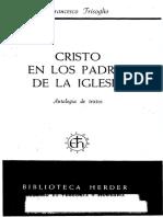 Trisoglio - Cristo en Los Padres de La Iglesia Antologia, Ed Herder