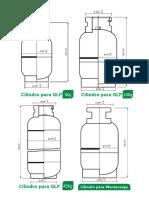Plano de Cilindros Para Glp 5-10-45 y Montacarga