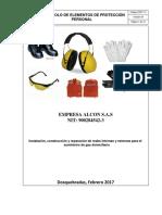 DSST-13 Protocolo Elementos de Proteccion Personal