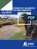 Ley de Las Organiaciones de Usuarios de Agua y Su Reglamento