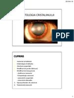 CURS 04-Patologia Cristalinului Si a Nervului Optic