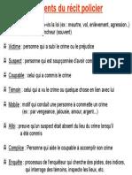 elements du recit policier  notes