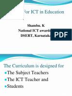 1 Curriculum for ICT in Education Teachers