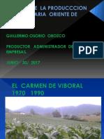 Historia de La Producccion Agropecuaria Oriente de Antioquia