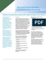 Active Directory Troubleshooting Datasheet