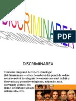 Discriminarea Tipuri de Discriminari Ppt