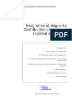 Integration of Migrants Contribution of Local and Regional Authorities