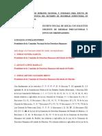 Formato de Escrito Inicial de Queja Con Solicitud Urgente de Medidas Precautorias Por Inicio de Clases Sin Dictaminación