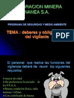 Deberes y Obligaciones Del Vigilante