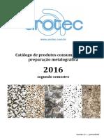 Arotec - Catálogo de Consumíveis Para Metalografia Rev-1