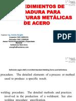 Modificable Procedimientos de Soldadura Para Estructuras Metálicas de Acero