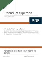 9) Tronadura de Superficie
