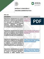 Disposiciones Administrativas Asea