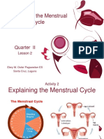 Explaining the Menstrual Cycle  . credits to the  owner