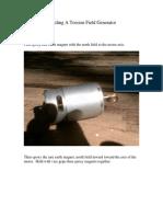 Building a Torsion Field Generator