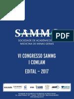 Edital VI Congresso SAMMG