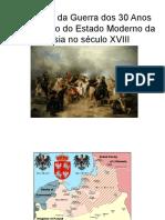 01 - O impacto da Guerra dos Trinta Anos na Formação Do Estado Da Prússia
