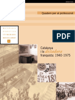 Catalunya i La Dictadura Franquista PROFESSORAT