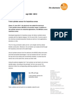 T-slot cylinder sensor for hazardous areas