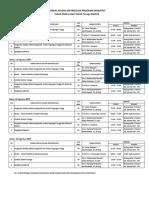 Jadwal Matrikulasi Sem I2017