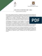 Primera circular.  I Jornada Binacional de Historia Perú - Chile.