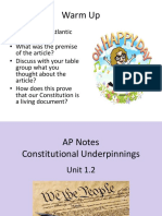 ap notes unit 1 2 constitutional underpinnings