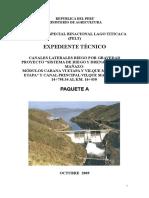 Memoria Descriptiva Canales Laterales Cabana Vi Etapa y Vilque Mañazo Vii Etapa - Paq. A