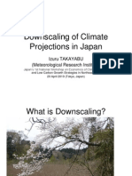 Downscaling of Climate Projections in Japan
