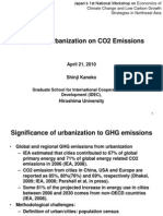 Impacts of Urbanization on CO2 Emissions