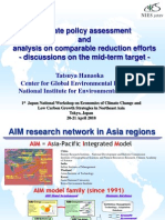 Climate Policy Assessment and Analysis in Comparable Reduction Efforts