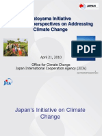 Hatoyama Initiative and JICA's Perspective on Addressing Climate Change
