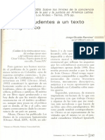 Glosas Imprudentes a Un Texto Paradigmatico
