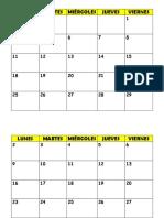 Calendario Sala