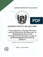 Instructivo Nº 001 2014 Mdi (r.g.nº108 2014 Mdi Gm)