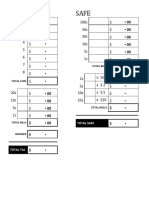 Cash Counting Worksheet