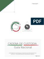 Cadena de Custodia - Guia Nacional