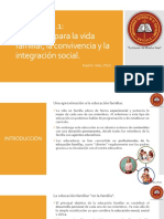LECCIÓN 3.1 Educación Para La Vida Familiar, La Convivencia y La Integración Social