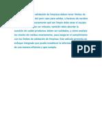 Los Programas de Validación de Limpieza Deben Tener Límites de Limpieza