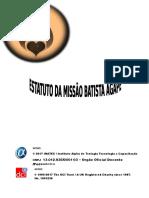 Modelo de Estatuto Da Missão Batista Ágape
