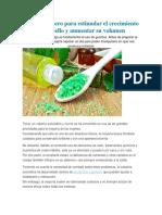 Champú Casero Para Estimular El Crecimiento Del Cabello y Aumentar Su Volumen