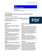 (2004) Free Cortisol Levels Should Not Be Used to Determine Adrenal Responsiveness