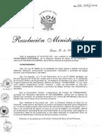Directiva Convenios Rm210 2011 Minsa